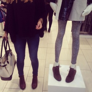 "Becky Leigh Hopper asked via Twitter if Top Shop mannequins were too skinny: ""The girl on the left is a size 8/10. #Topshop #poorbodyimage #irresponsible #fashion #highstreet"