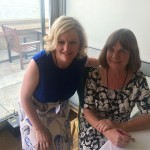 With children's writer Julia Donaldson.